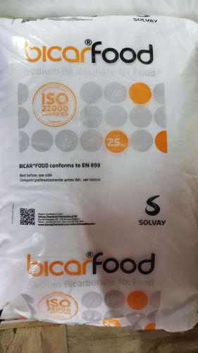 bicarbonato de sodio bolsa x 25kg cal. alimenticia bicarfood