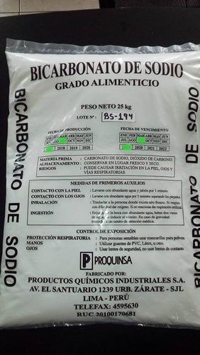 bicarbonato de sodio grado alimenticio saco 25 kg