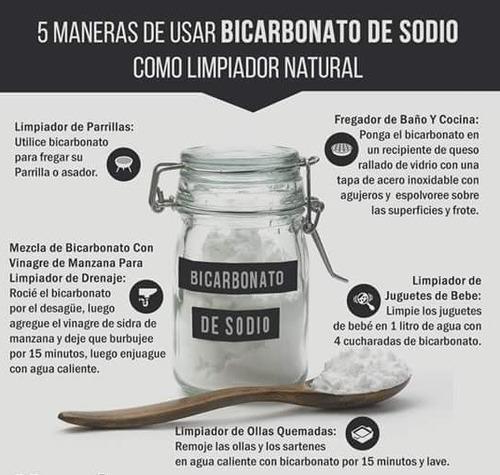 bicarbonato de sodio puro libre de aluminio