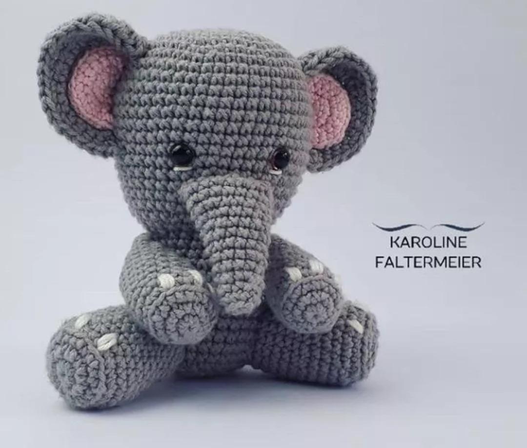 Crochet elephant amigurumi elephant stuffed toy animal ...   919x1080