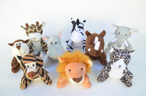 bichos de floresta safári selva 9 peças, leão,zebra,elefante