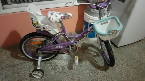 bici aurorita flower como nueva