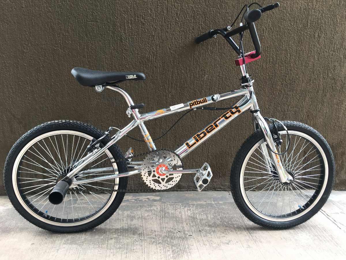 Bici Liberty Pitbull Freestyle Rodado 20 Bmx 10014c Cromada ...