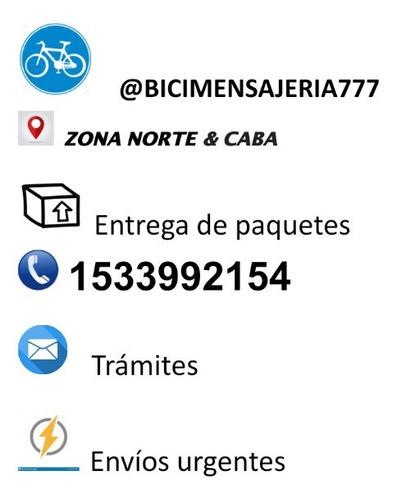 bici mensajería trámites paquetes compras zona norte & caba