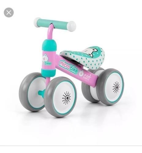 bici microbike niña bicicleta 4 ruedas kindereo cat  ®