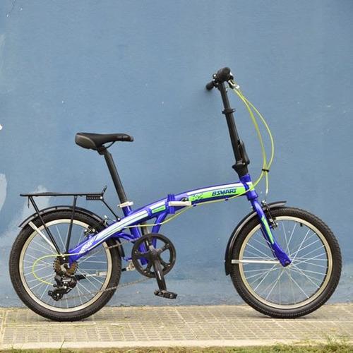bici plegable rodado 20 aluminio 7v shimano full accesorios