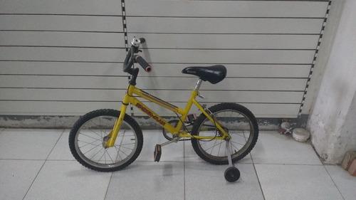 bici rodado 16 - amarilla   impecable  - hombre araña
