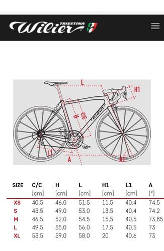bici ruta r700 wilier triestina montegrappa nueva