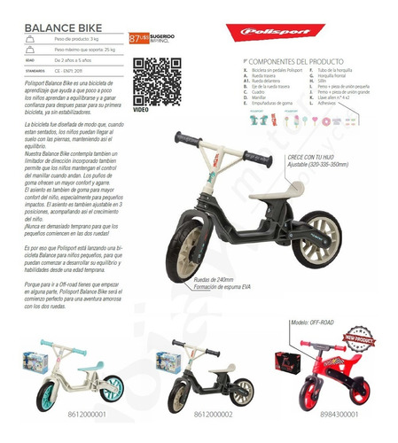 bici sin pedales polisport tipo chivita exelente calidad
