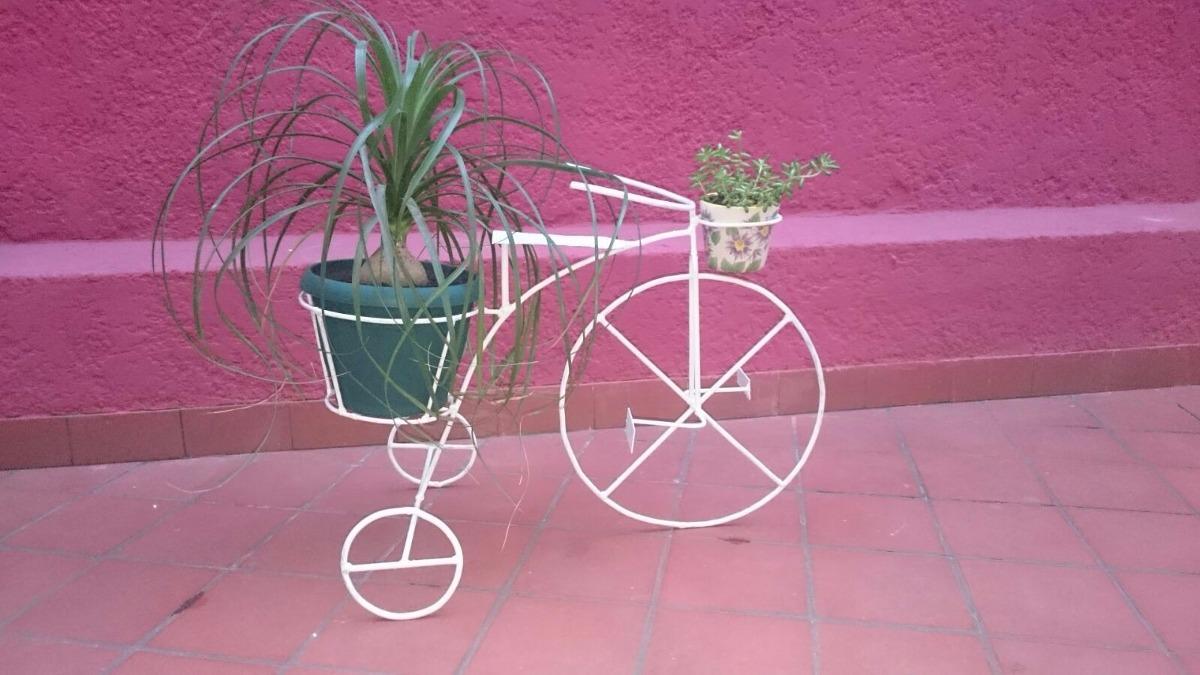Bici triciclo macetero para jardin en hierro - Bicicleta macetero ...
