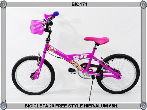 bicicleta 20  free style hier/alum