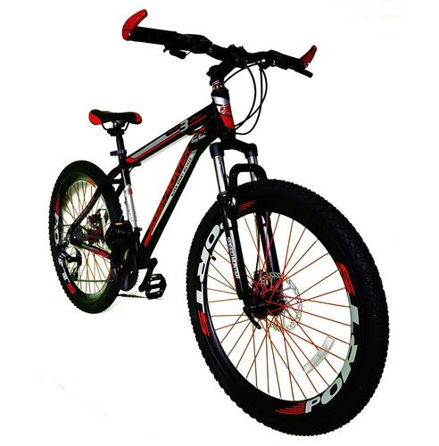 bicicleta 26 aluminio 21 vel shimano frenos de disco 2018