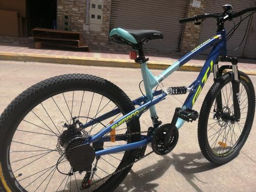 bicicleta 26 gti shimano 21 vel. aluminio doble suspencion