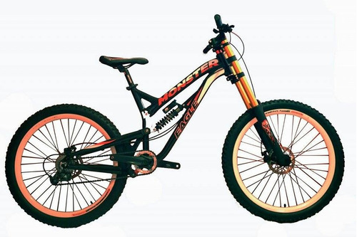 bicicleta 26 monster eagle downhill doble susp. alivio 3.0