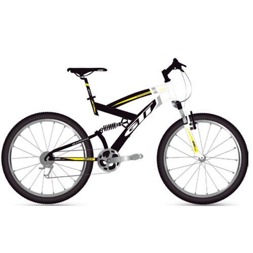 bicicleta 26 montañera gti doble 21v lista para uso + regalo