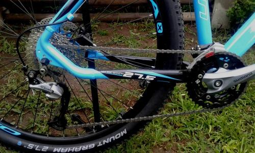 bicicleta  27.5 shimano alivio 27 vel. f hidraulicos