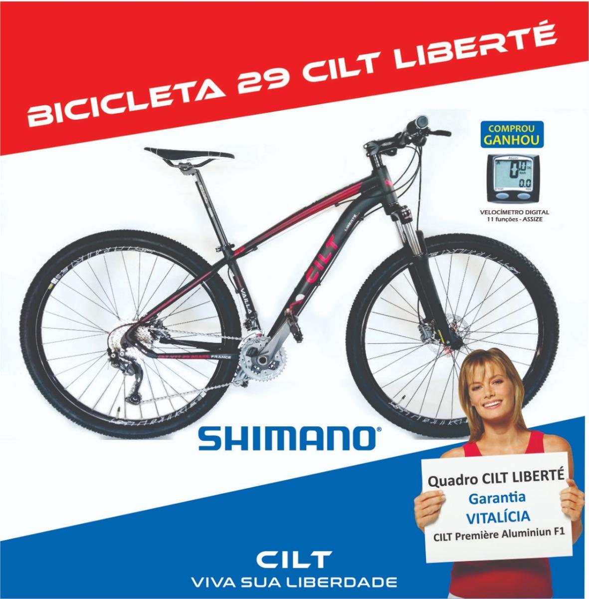 60f97e1e3 bicicleta 29 cilt 7.0 24v shimano acera hidráulico trav l600. Carregando  zoom.