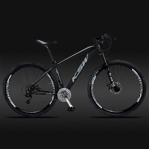 bicicleta 29  ksw xlt color cambio shimano 21v + freio disc