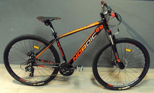 bicicleta 29 nordic x5 alum bloqueo shimano 21v disco