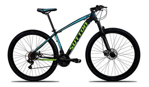 bicicleta 29 sutton câmbio shimano 21v disc hidráulico xlt