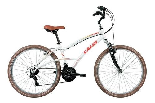 bicicleta 400 comfort fem 21v garfo amortecedor a17 - caloi