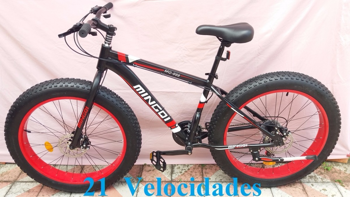 bicicleta a o carbono aro 26 pneus bal o 26 x 4 0 vermelha r em mercado livre. Black Bedroom Furniture Sets. Home Design Ideas