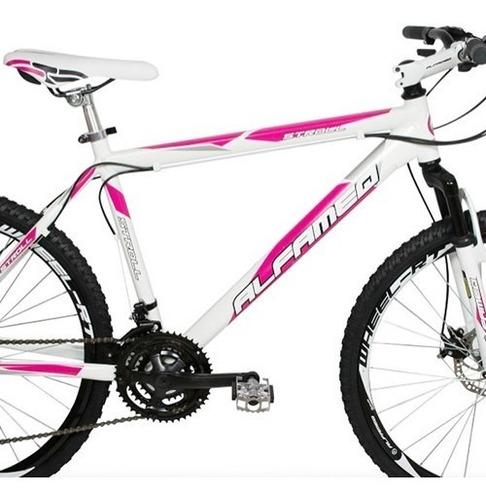 bicicleta alfameq aro 29, freio disco 24 marchas kit shimano