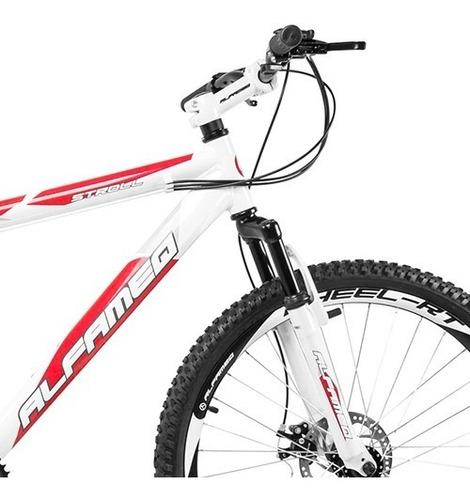 bicicleta alfameq stroll feminina aro 26 disco 21v shimano