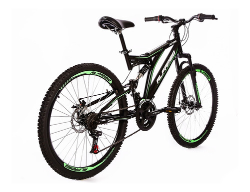 bicicleta alfameq xrs full suspension aro 26 freio disco 21v