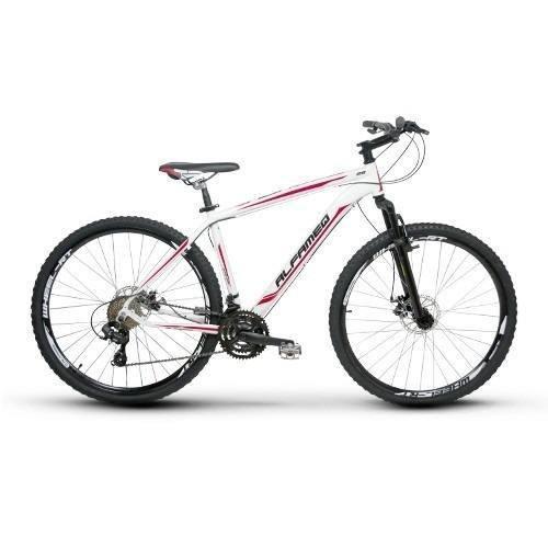 bicicleta alfameq zahav 29 quadro 17 21v branca frete gratis