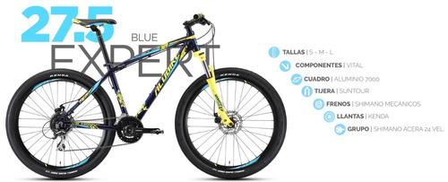 bicicleta alubike a27.5 expert 2018, 24 vel rodada 27.5