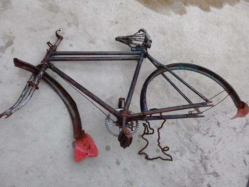 bicicleta antiga quadro barra dupla