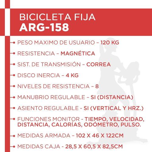 bicicleta arg-158 randers magnetica 100kg cuotas sin interés