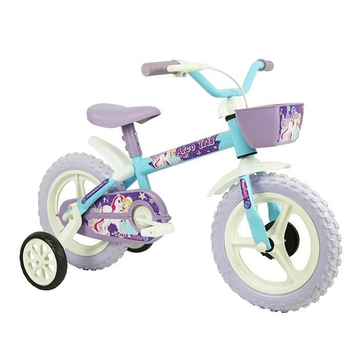 82d4e734b Bicicleta Aro 12 Azul E Lilás Track Bikes Arco Iris Feminina - R ...