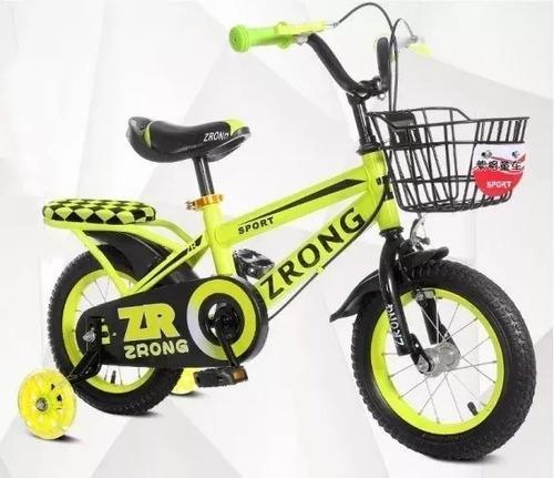 bicicleta aro 12 con asiento trasero rplanet
