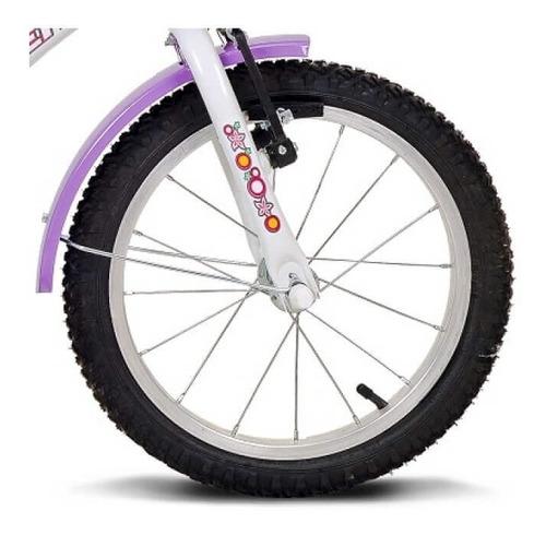 bicicleta aro 16 breeze branca e lilás 10329 verden
