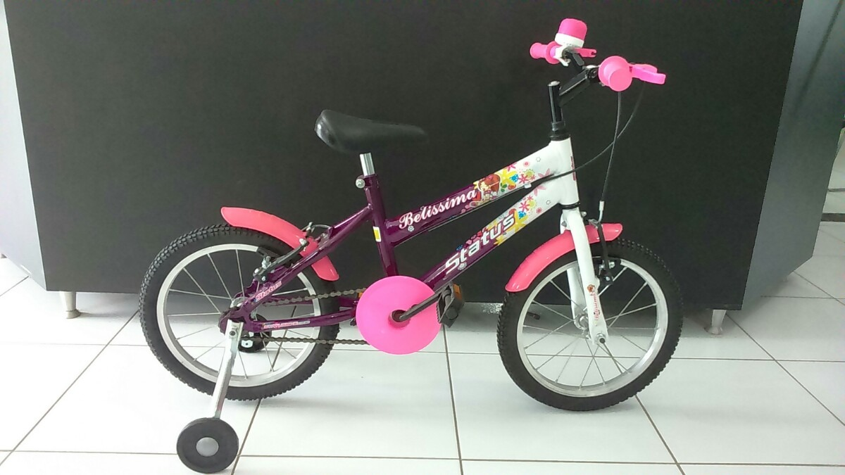 e02d59021 bicicleta aro 16 feminina status belissima roda de aluminio. Carregando  zoom.