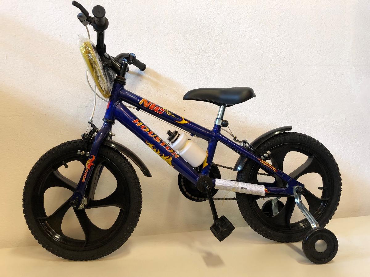 0fe227e3a bicicleta aro 16 houston nic - azul. Carregando zoom.