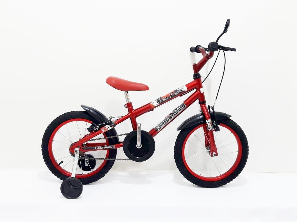 7eda03f57c Bicicleta Aro 16 Infantil Bike Mtb Com Adesivo + Brindes - R$ 319,99 ...