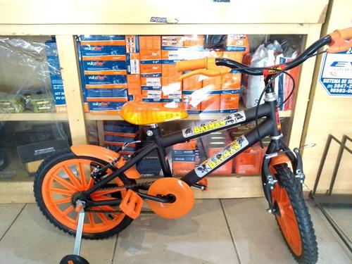 bicicleta aro 16 masculina laranja  4 a 7 anos