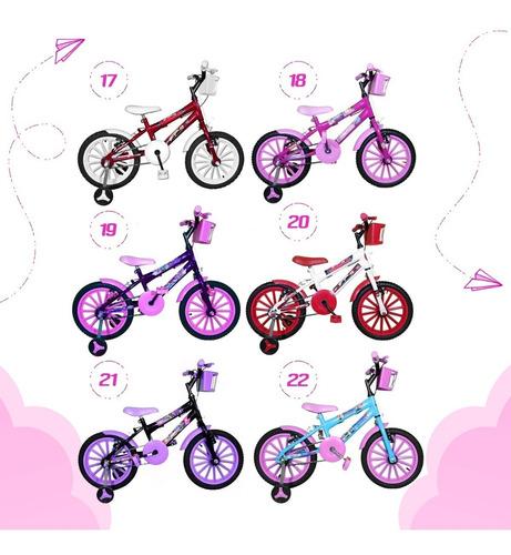 bicicleta aro 16 rosa bb kit pink com brindes bfc0b