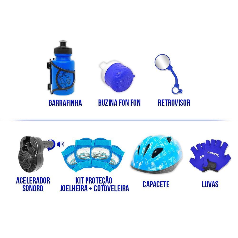b4b5fc0f1 bicicleta aro 20 azul preta kit aero azul completa cma3f. Carregando zoom.