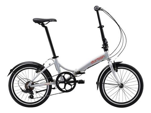 bicicleta aro 20 bike dobrável 6 marchas prata rio durban