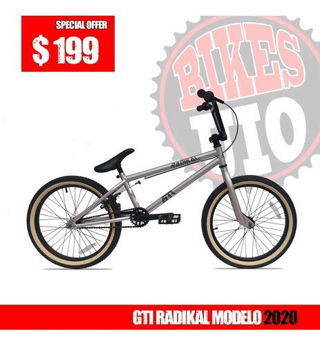 bicicleta aro 20 bmx gti radikal modelo 2020