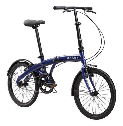 bicicleta aro 20 dobrável durban 1 marcha eco aço carbono