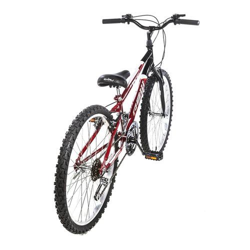 bicicleta aro 24 vermelho  preto 18 marchas manete