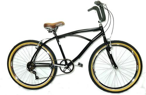 bicicleta aro 26 caiçara praiana vintage retrô c/marcha grip