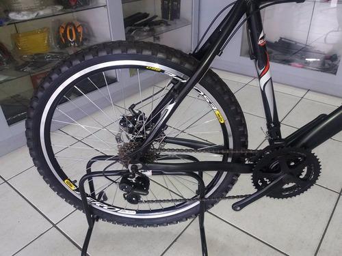 bicicleta aro 26  com 21 velocidades altura 21  com disco .