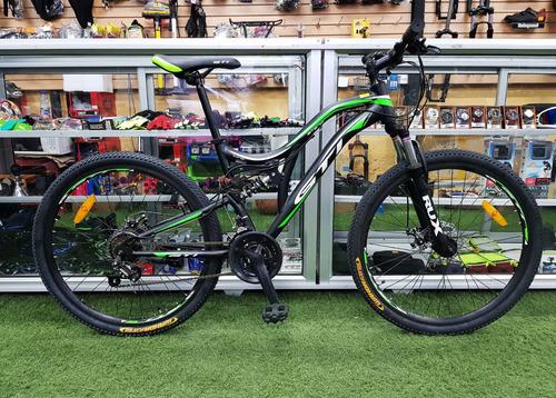 bicicleta aro 26 doble suspension aluminio shimano 21v disco