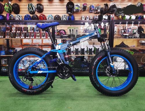 bicicleta aro 26 plegable fat bike 21v. frenos de disco 2018